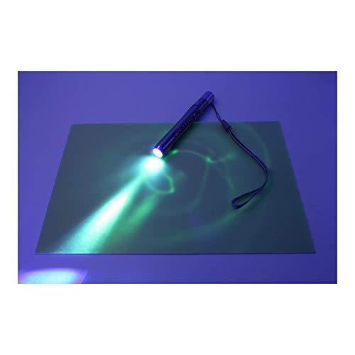 lumentics Lichtmalset mit Lampe (DIN A5) - Zur Lichtmalerei auf Einer stabilen, im Dunkeln nachleuchtenden Kunststoffplatte. Set zum Malen mit Licht für Kinder, als Geschenk oder zum Basteln.