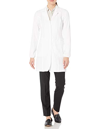 HeartSoul Scrubs Women's Break On Through Lab-Solutely Fabulous 34 Inch Lab Coat, White, Small