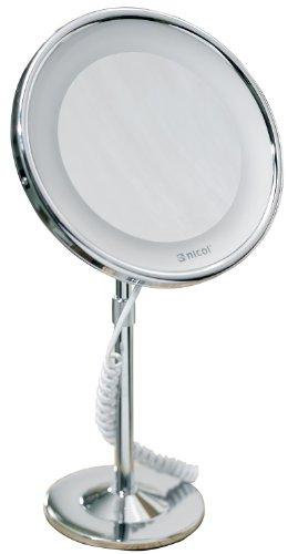 Nicol 4024100 JOSEPHINE Kosmetikspiegel mit LED-Beleuchtung, Wandspiegel 5-fach Vergrößerung