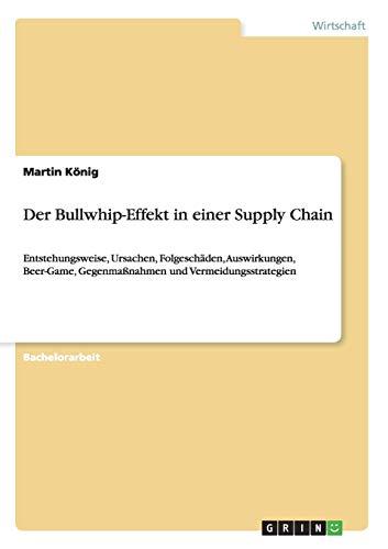 Der Bullwhip-Effekt in einer Supply Chain: Entstehungsweise, Ursachen, Folgeschäden, Auswirkungen, Beer-Game, Gegenmaßnahmen und Vermeidungsstrategien