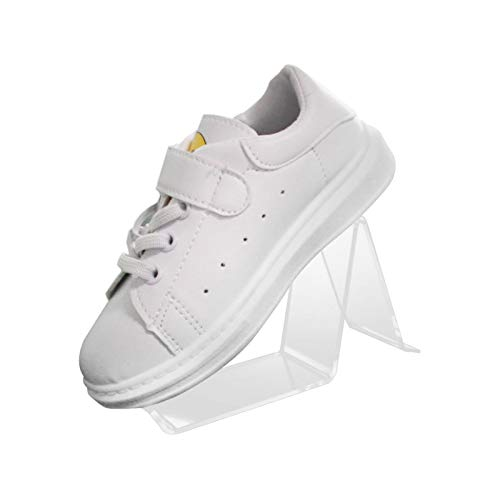 Expositor de zapatos de acrílico, soporte de exhibición de zapatos, estante de exhibición de zapatos, elevador de zapatos para el hogar, apto para zapatillas, tacones altos, sandalias (8 piezas)