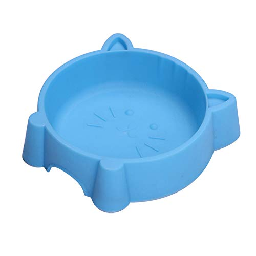 Big Save! preliked Solid Color Pet Bowl with Cat Face Shape Anti Slid Food Water Feeder for Dog Pupp...