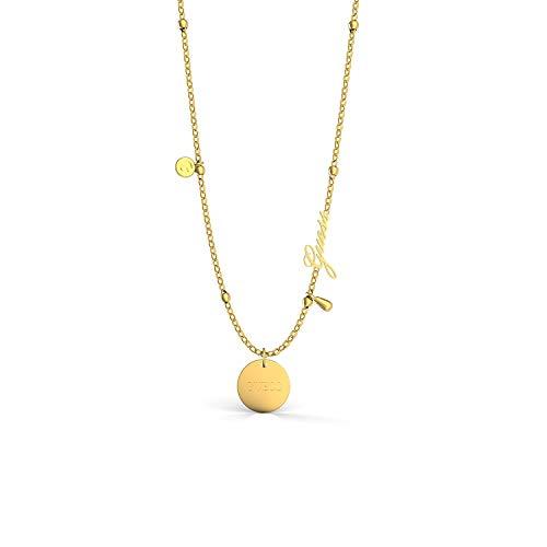 Guess Damen-Kette Greek Peony Edelstahl One Size Gold 32011711