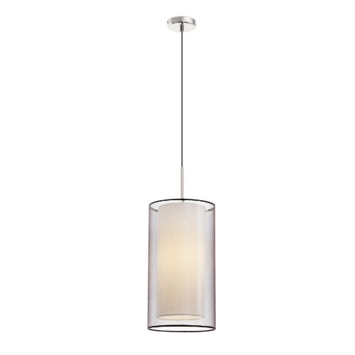 FARO BARCELONA 68548 SABA Lampe Suspension Nickel Mat 1L
