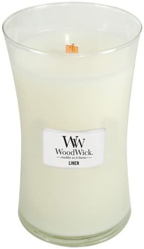 WoodWick Candle Linen Large Jar