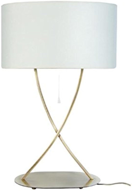 ELÉGANCE Lampe a a a poser acier carré 40x40x65 cm - Creme B079HZFD39 | Sofortige Lieferung  b8428c