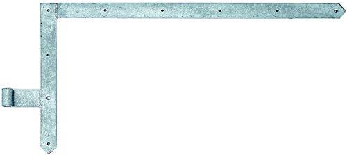 GAH-ALBERTS 313050 Tor-Winkelband, gerade, Abschluss spitz, oben, feuerverzinkt, Rolle: Ø16 mm / 400 x 800 mm