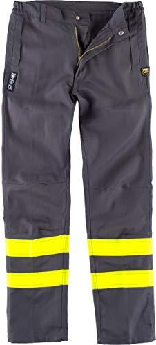 S-ROX WORKTEAM Schweißerhose, feuerhemmend und antistatisch, dreifache Naht, zwei offene Taschen an den Seiten und zwei Herren-Taschen, R-B1494-GR/AAV-XL, Grau, R-B1494-GR/AAV-XL XL