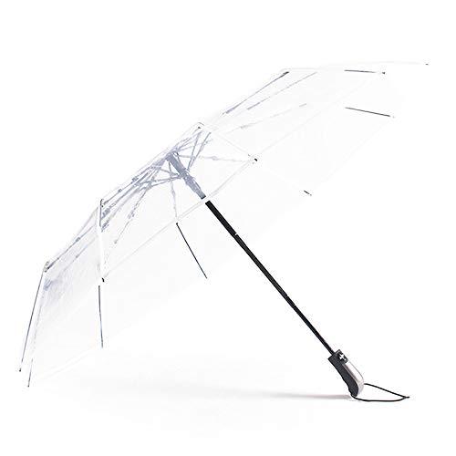 CZZJH Regenschirm 10 Bones Couple Double 445G Automatischer Großer, Dicker Taschenschirm Für Jungen Und Mädchen Zur Erhöhung Der Transparenz