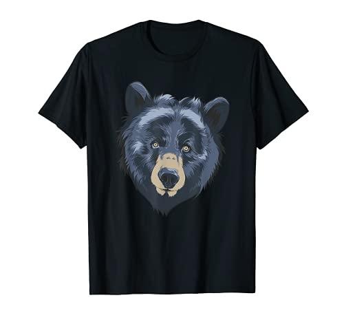 Oso Negro Cabeza Safari Vida Silvestre Animal Whisperer Zologo Camiseta