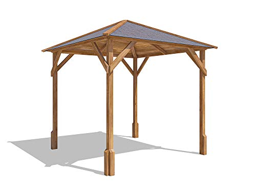 large open wooden shelter