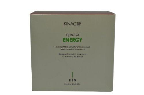 Kin Kinactif Injector Energy Deep Traitement restructurant pour cheveux fins et fragiles – 24 x 18 ml