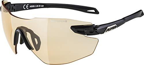 ALPINA TWIST FIVE SHIELD RL VL+ Sportbrille, Unisex– Erwachsene, black matt, one size