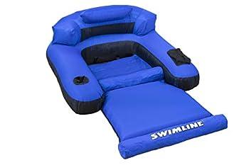 Swimline Floating Lounge Chair Blue/Black 16 Inch