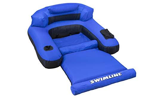 Swimline Floating Lounge Chair Blue/Black, 16 Inch