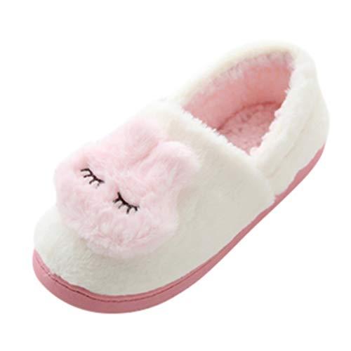 Luckycat Mujer Zapatillas de Casa Cálido Felpa Suave Invierno Pantuflas Zapatillas De...