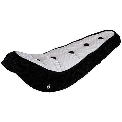 Fenix Lowrider 5 Button Polo Velour Banana Bike Saddle/Seat, (White Top/Black)