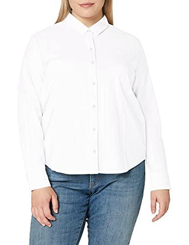 Levi's The Classic BW Shirt Camisa, Blanco Brillante, S para Mujer