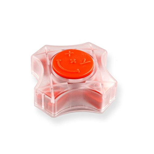 CoordiMate Self Inking XY Graph Stamp Clear and Red, Metric Measurements (with Black Ink)