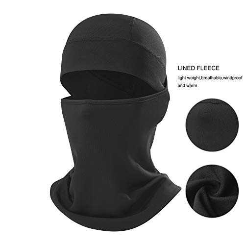 Omenex Cold Weather Face Mask Ski Balaclava for Men Women Super Soft Stretch Material with Lined Fleece-Windresistant Moisture Wicking(Highly Stretch)