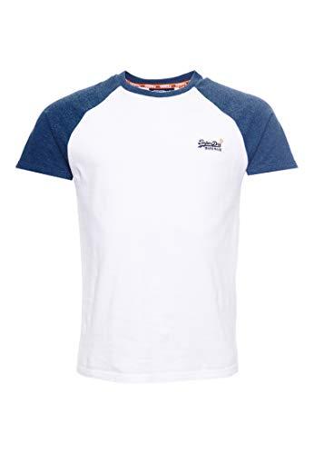 Superdry Herren OL Classic SS Baseball Tee T-Shirt, Weiß (Optic 01C), X-Large