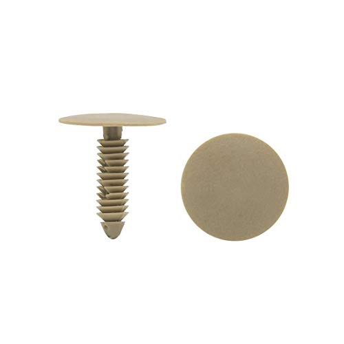 DyniLao 20pcs 7mm Hole Car Plastic Trim Door Panel Retaining Clips Rivet Beige for Automotive