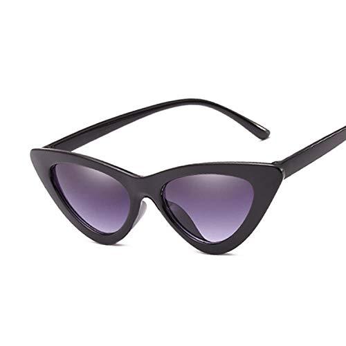 IRCATH Gafas de Sol de Moda Retro Mujeres Vintage Ojo Ojo Negro Blanco Gafas Mujer Dama Femenina Apto para Caminar y reunirse Junto al mar-Bdoublegray