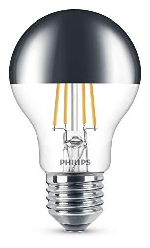 Philips LED Lampe, ersetzt 48W, Kopfspiegel, E27, Warmweiß (2700 K), 610 Lumen, klar