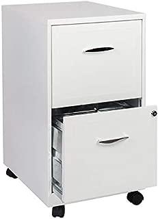 Scranton & Co 2 Drawer Steel Mobile File Cabinet in Pure White