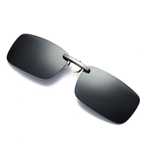 TW-Gläser TWISFER polarisierte Sonnenbrille für Brillenträger Überzieh-Sonnenbrille Herren und Damen Sonnenbrillen-Clip(Grau,One Size)