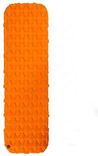 Yousiju Colchón Inflable Colchón de Aire Colchoneta de Camping Colchón de Camping Ultraligero Colchoneta de Dormir Cama de Camping Almohadilla de Nailon (Color : Orange - Only Mat)