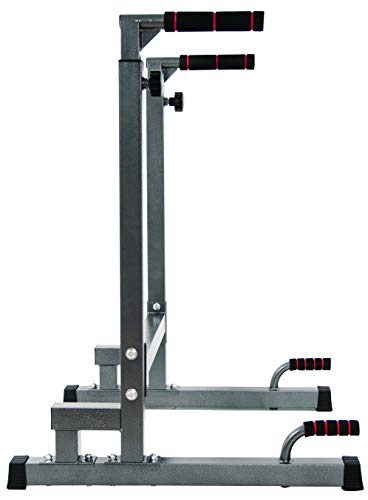 Product Image 2: BalanceFrom Multi-Function Dip Stand Dip Station Dip bar with Improved Structure Design, 500-Pound Capacity (Gray)