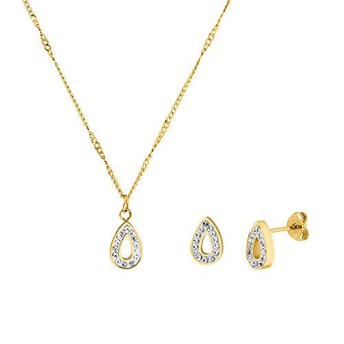 PURELEI® 'Kaua' Halskette & Ohrring Set (Gold)