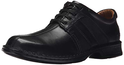 Clarks Men's Touareg Vibe Oxford, Black Leather, 12 EE - Wide