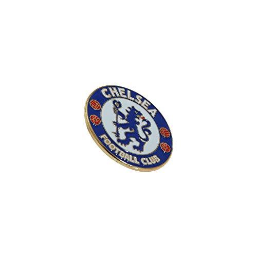 Chelsea FC Official - Pin de metal con escudo del equipo (Talla Única/Azul/Blanco/Rojo)