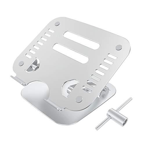 Soporte para portátil universal, soporte de refrigeración de escritorio ergonómico extraíble de aluminio con herramienta, soporte ventilado para portátil compatible con MacBook Air Pro de 10' a 17.3'