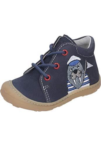 RICOSTA Jungen Stiefel Wally 1221800, Kinder Boots,Schnür-Stiefel,See,20 EU