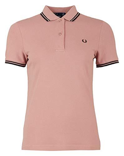 Fred Perry Damen Twin Tipped Shirt Poloshirt, grau/pink, 42