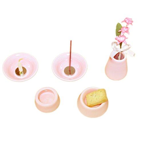 ミニ仏具セット ペット仏具 おもいでのあかし 8点セット ピンク 手元供養 ペット供養 Cセット