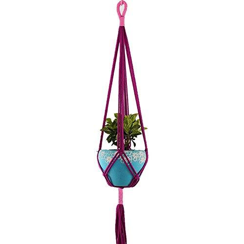 Trendy household hangmand retro macramé tuinplant bloempot houder touw om op te hangen
