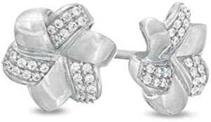0.16 CT Round Cut Created Store Flower 100% quality warranty! engagement 14k Earrings Diamond