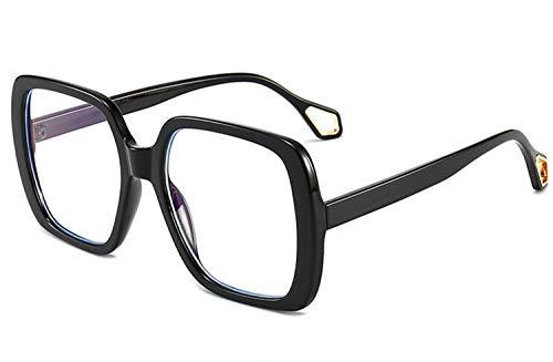 NOBRAND Gafas Vintage, Unisex Cuadrados Gafas De Sol, Vidrios Claros De La Lente De Ojo, Gafas De Moda para Decorar tu Propio diseño (Size : Black)