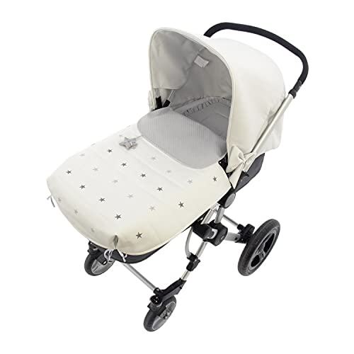 Saco para Capazo Rosy Fuentes - Saco para Bebé Universal - Saco tres usos - Funda para capazo de bebé-0-blanco gris