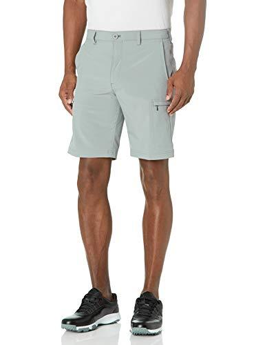 IZOD Men's Golf SwingFlex Cargo Short, Cinder Block, 36