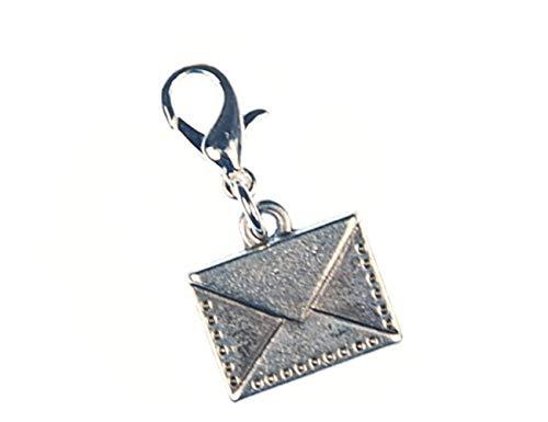 Miniblings Brief Paket Post Charm Brieffreundin Mail Silber - Handmade Modeschmuck I Kettenanhänger versilbert - Bettelanhänger Bettelarmband - Anhänger für Armband