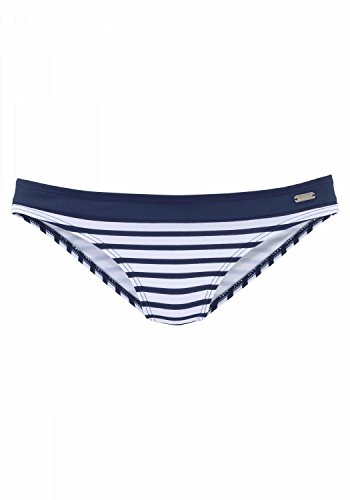 LASCANA Venice Beach Bikini-Hose normal White-Navy-s - 36