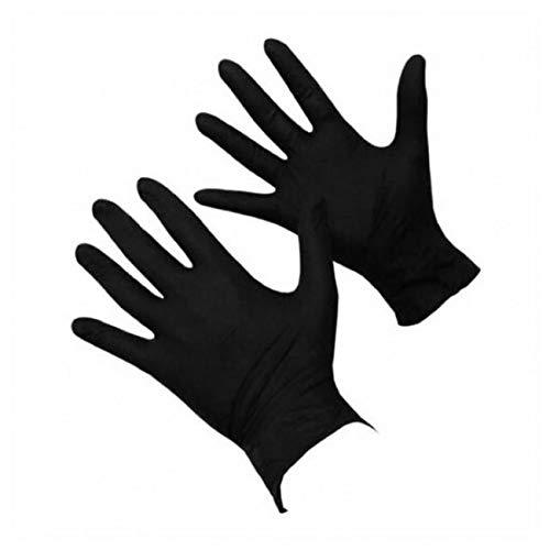 guanti nitrile neri Guanti in gomma nitrile extra large 100 neri privi di polvere per tatuaggi medici meccanici