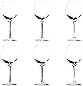 Summa - Copas de vino tinto. Set de 6 unidades. 550ml/55cl   Cristal, alta transparencia y borde fino   Uso en casa, restaurante y fiestas  