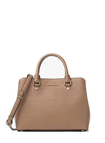 """Saffiano Leather 12.5""""W X 8.5""""H X 5""""D Adjustable Strap: 21""""-24"""" Interior: 1 Center Zip Compartment, 2 Open Compartments, 1 Open Pocket, 1 Zipper Pocket, 1 Key Chain Magnetic Snap Fastening -Lining: 100% Polyester"""