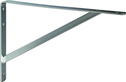 IB-Style - Regalträger | 7 Abmessungen | Verzinkt und Weiß 250 x 400 mm verzinkt Schwerlastträger Regalwinkel Regalhalter Regal Winkel Bodenträger - hohe Tragkraft